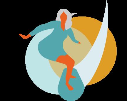 Ilustración surfera